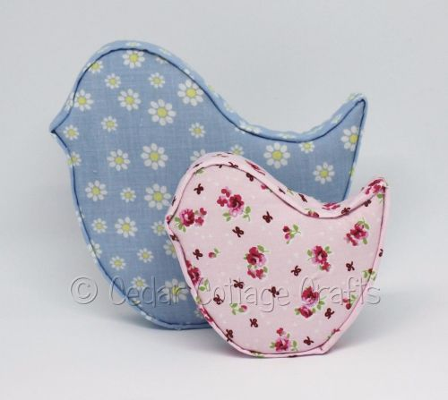 Fabric Covered Padded Birds