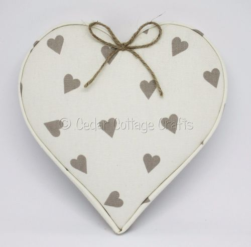 Fabric Covered Padded Hearts