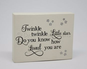 Freestanding Plaque - Twinkle Twinkle, Little Star