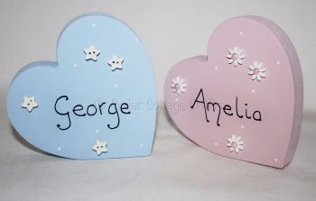 Personalised Freestanding Heart
