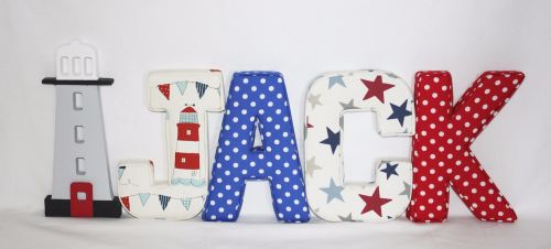 Fabric Covered Padded Letter/Names