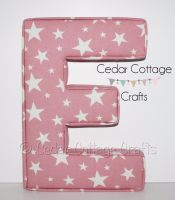EXTRA LARGE CHUNKY Fabric Covered Padded Letters