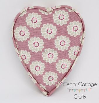 Fabric Covered Padded Hearts (Thin)