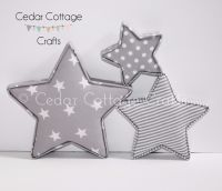 Fabric Covered Padded Stars