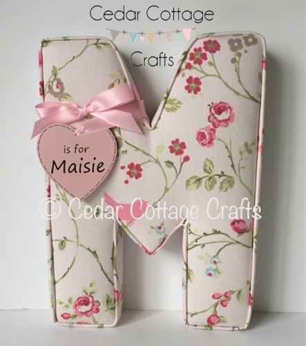 EXTRA LARGE Fabric Covered Padded Letter/Names with gift tag
