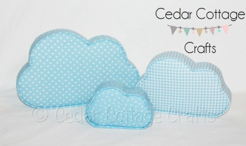 Fabric Covered Padded Clouds