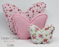 Fabric Covered Padded Butterflies