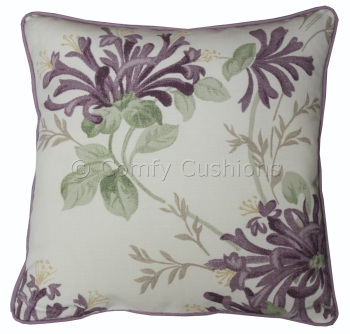 Laura Ashley Honeysuckle Trail Grape cushion covers