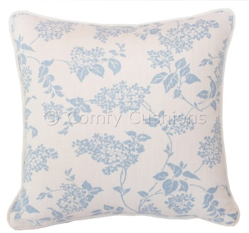 Laura Ashley Lilac Delphinium cushion covers