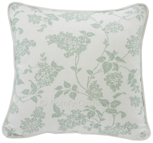 Laura Ashley Lilac Eau de Nil cushion covers