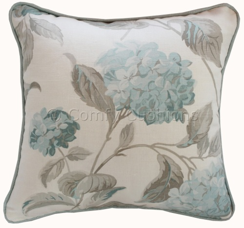 Hydrangea Duck Egg cushion covers