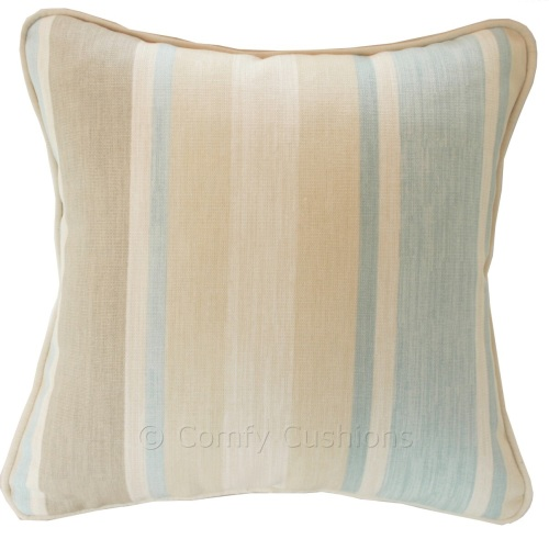Laura Ashley Awning Stripe Duck Egg cushion covers