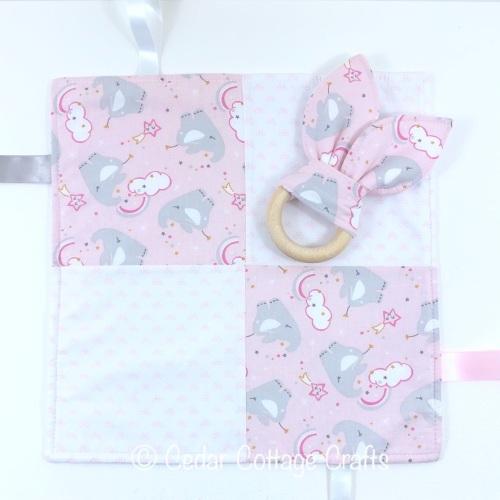 Baby Comforter & Bunny Eared Teether