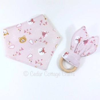 Baby Bib & Bunny Eared Teether