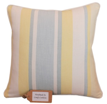 Laura Ashley Awning Stripe Primrose cushion cover