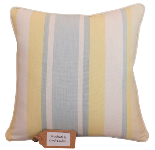 Laura Ashley Awning Stripe Primrose cushion cover