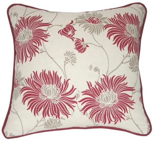 Laura Ashley Kimono Cranberry cushion covers