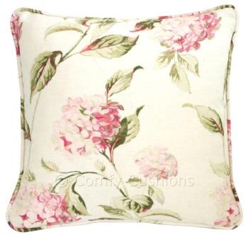 Laura Ashley Hydrangea Pink cushion covers