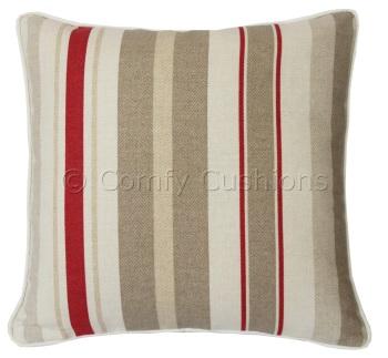 Laura Ashley Mylor Stripe Tomato cushion covers