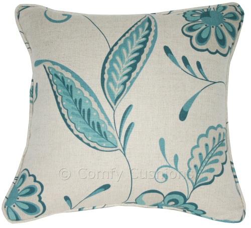 Laura Ashley Carolina Teal cushion covers