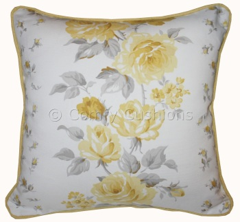 Laura Ashley Clarissa Camomile cushion covers