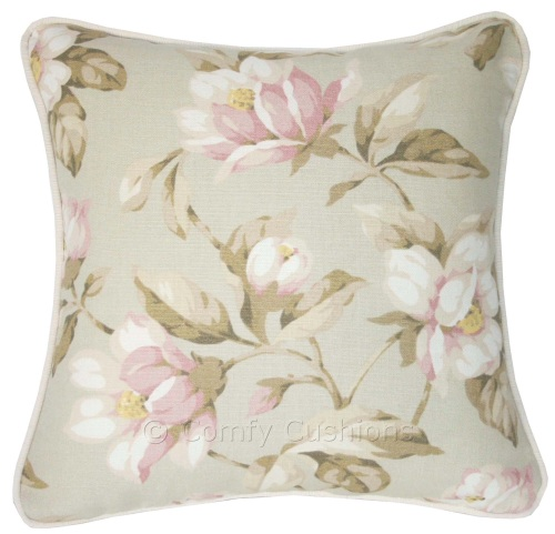 Laura Ashley Magnolia Champagne cushion covers