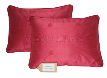 Laura Ashley Lucille silk Cranberry cushions
