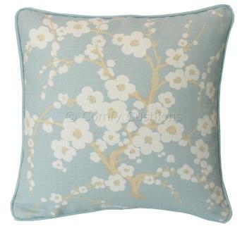 Laura Ashley Lori Duck Egg cushion covers