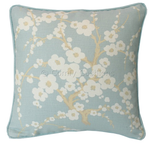 Laura Ashley Lori Duck Egg cushion covers