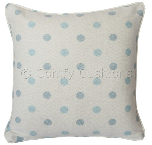 Laura Ashley Betsy Spot Duck Egg cushion covers