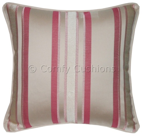 Laura Ashley Forbury Stripe Cerise cushion covers
