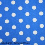 Dots Large - White on Denim copy
