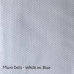Micro Dots - White on Blue  copy