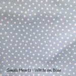 Small Hearts - White on Blue copy