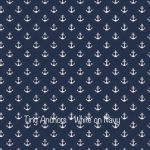 Tiny Anchors - Whte on Navy