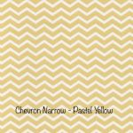 Chevron Narrow - Pastel Yellow