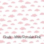 Clouds - White:Porcelain Pink