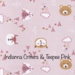 Indianna Critters & Teepee - Pink