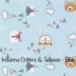 Indianna Critters & Teepees - Blue
