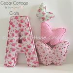 A - Ex Large in Tea Party Roses Pink with Butterfly set