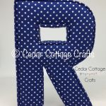 R - Polka Dot Dark Blue