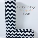 L Ex Lge - Black & White Chevron