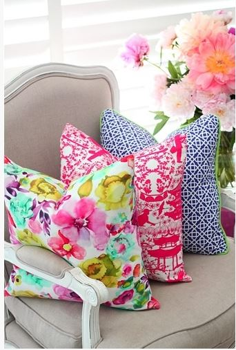 bold colours cushions