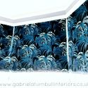 palm trees fabric roman blinds