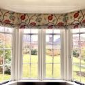 bay window bespoke roman blinds