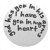 God Has You In His Arms Floating Locket Back Plate