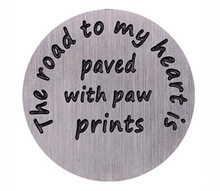 Road To My Heart Paved With Paw Prints Back Plate