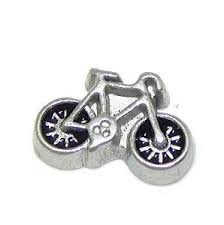 Bicycle / Push Bike Floating Locket Charm