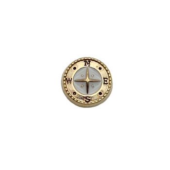 Compass Floating Locket Charm