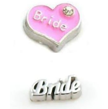 Bride Floating Locket Charm